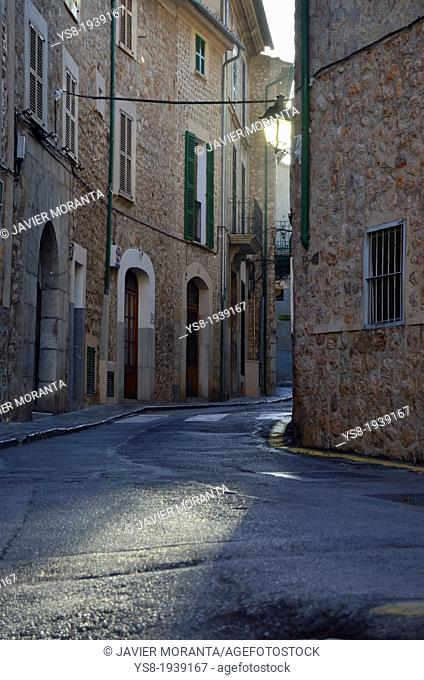 Fornalutx Street, Spain, Balearic Islands, Mallorca, Mediterranean Sea