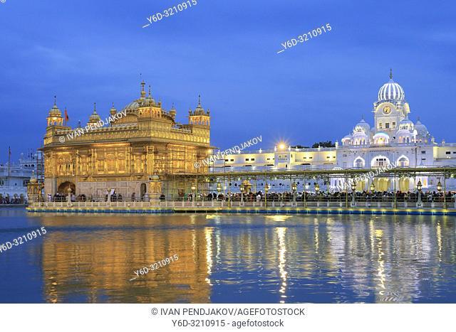 Golden Temple at Night, Amritsar, Punjab, India