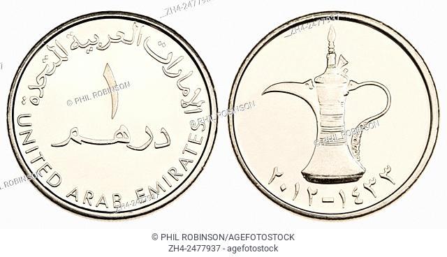 United Arab Emirates Coin Dirham Stock Photos And Images Age Fotostock