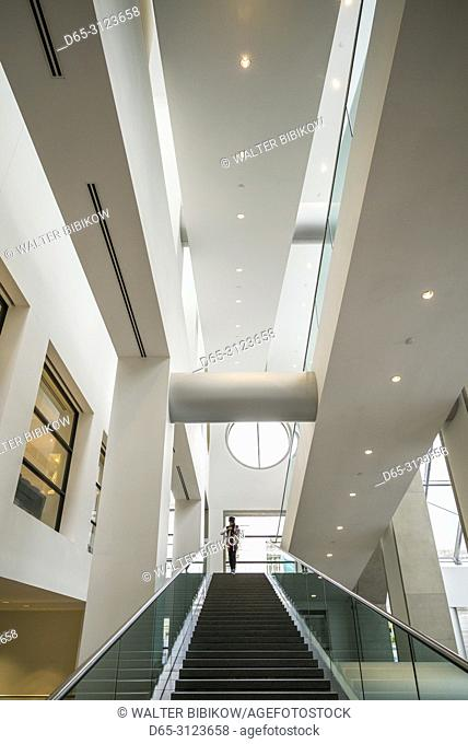 Canada, Quebec, Montreal, Musee des Beaux Arts, fine arts museum, stairs
