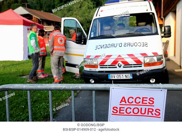 French Red Cross. Volunteers