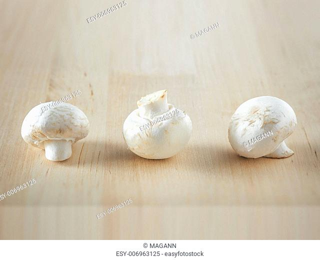 An image of three mushroom in a row