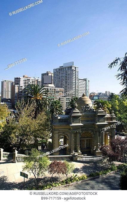 Plaza Neptuno Cerro Santa Lucia, Santiago, Chile