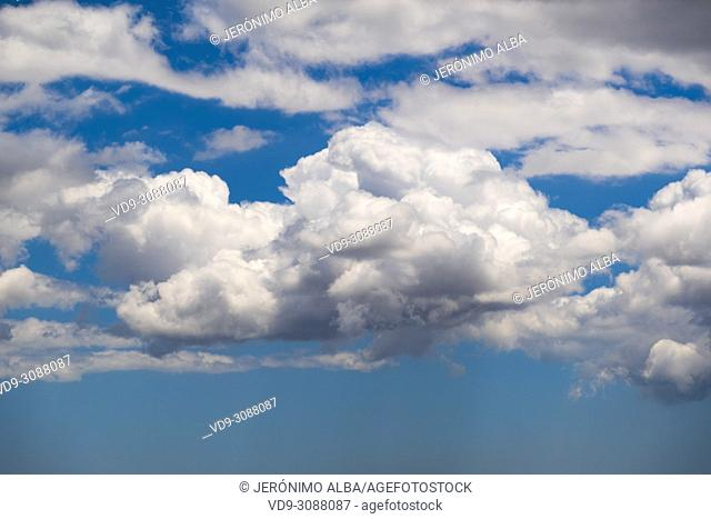 Clouds in blue sky. Andalusia, Southern Spain Europe