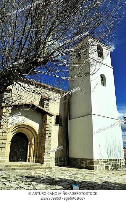 The parish church of Saint John the Baptist, Peñalén town, Guadalajara province, Spain