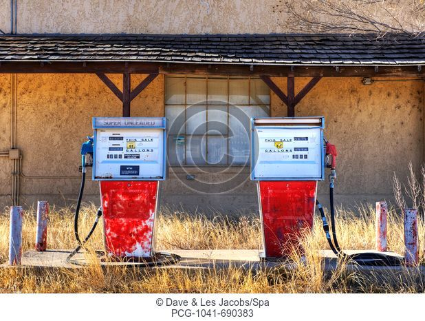 Abandoned Gas Pumps and Station