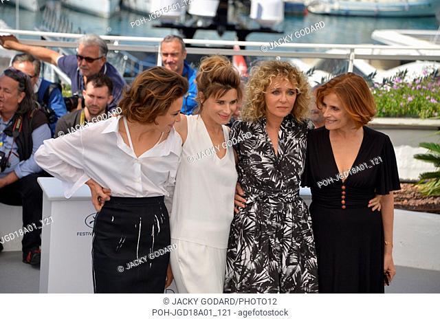 Crew of the film 'Euphoria' (Euforia): Jasmine Trinca, Valentina Cervi, Valeria Golino, Isabella Ferrari Photocall of the film 71st Cannes Film Festival May 15