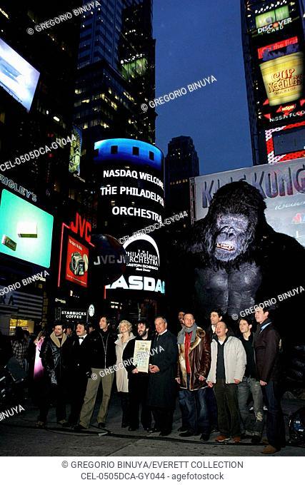 Andy Serkis, Jack Black, Adrien Brody, Naomi Watts, Peter Jackson, Mayor Michael R. Bloomberg, Evan Parke, Thomas Kretschmann, Kyle Chandler, Lobo Chan
