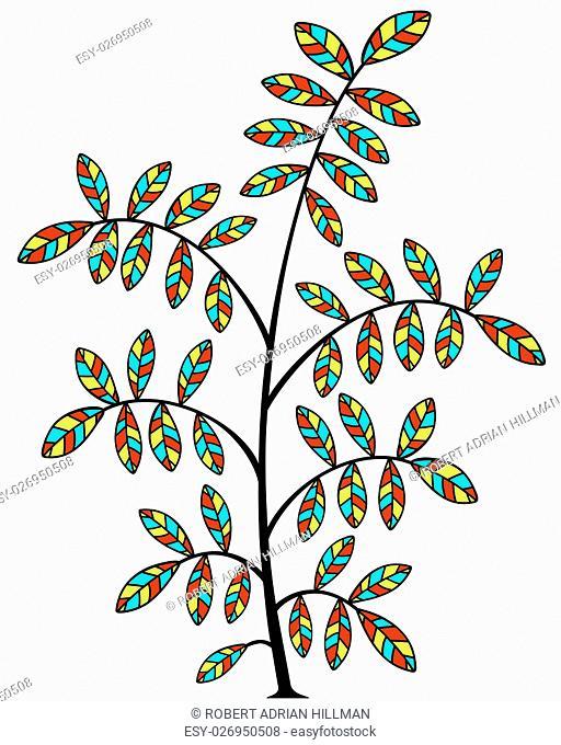 Editable vector illustration of a small tree