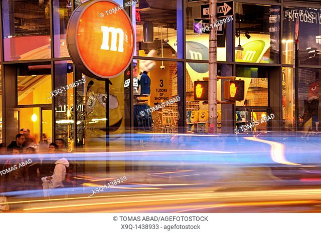 M&M's World in Times Square, Retail Store, 42nd Street, New York City, 2011