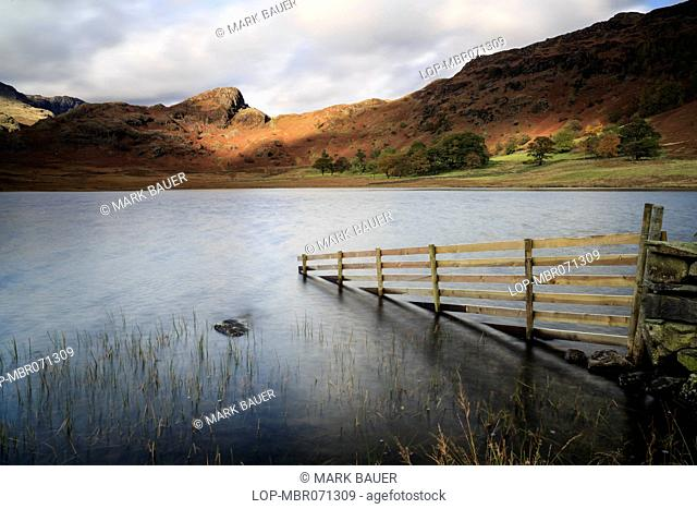 England, Cumbria, Blea Tarn. Stormy afternoon light at Blea Tarn in the Lake District