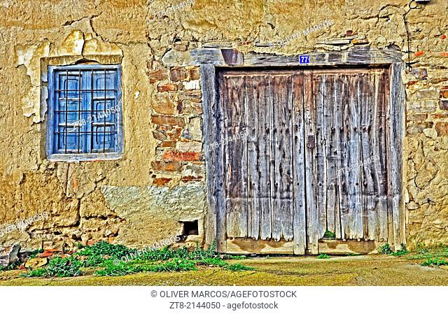 Old house in abandoned village, Leon province, Castilla-Leon, Spain