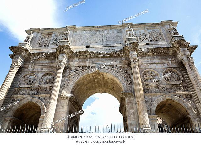 The arch of Constantine. Rome, Italy