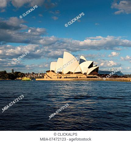 Opera House at sunset, Sydney, New South Whales, Australia
