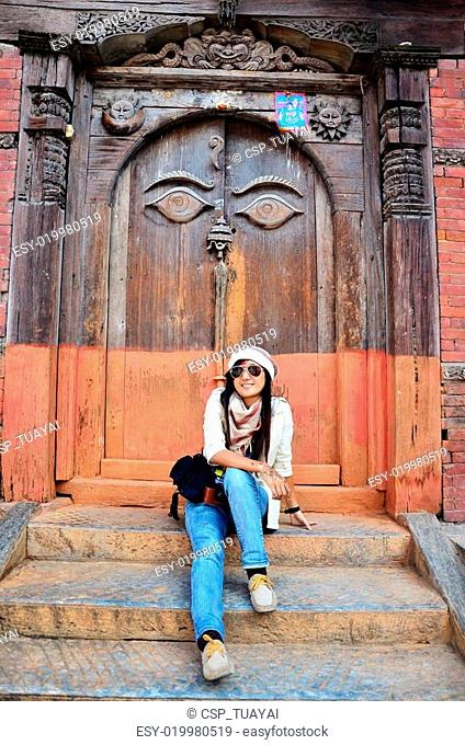 Traveler Thai Women in Nepal