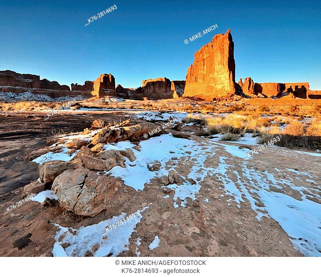 Court House Towers Section, Arches National Park, Moab, Utah