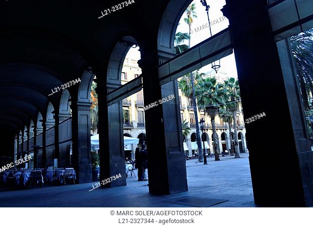 Plaça Reial. Barcelona. Catalonia. Spain