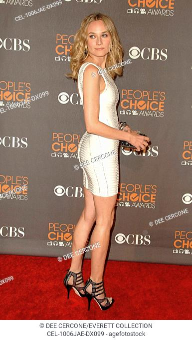 Diane Kruger (wearing a Herve Leger dress) at arrivals for People's Choice Awards 2010 - ARRIVALS, Nokia Theater, Los Angeles, CA January 6, 2010