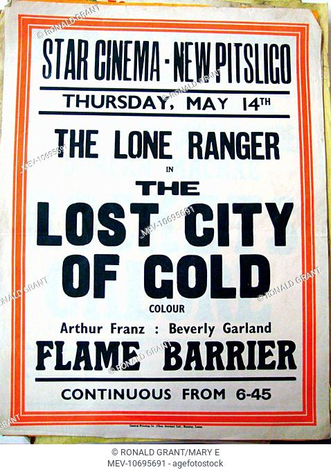 A poster for weekly screenings in the Public Hall, New Pitsligo , a village in Aberdeenshire, in 1958.There had previously been Glen Cinema shows there which...