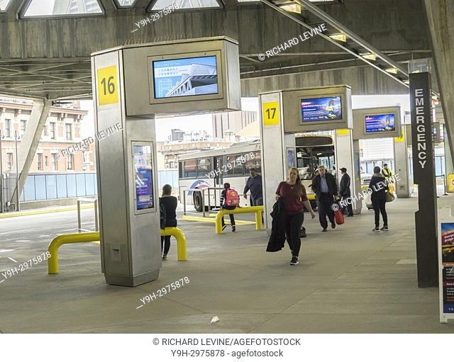The newly renovated George Washington Bridge Bus Terminal in Washington Heights in New York on Monday, October 23, 2017. The Port Authority of NY & NJ has...