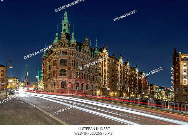 Germany, Hamburg, buildings in the old Warehouse District