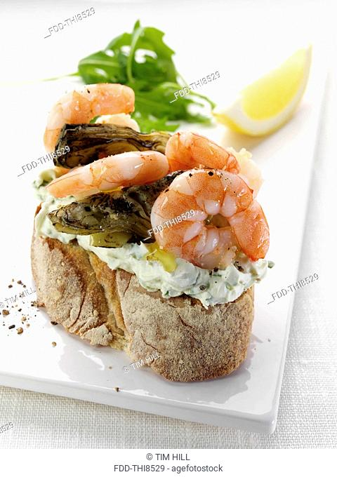 King Prawn Bruschetta