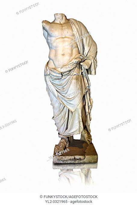 Greek statue of a male figure, 2nd cent B. C Greek Hellenistic period, from Pergamon ( Bergama ) , Turkey. Istanbul Archaeological museum Inv 2707 T