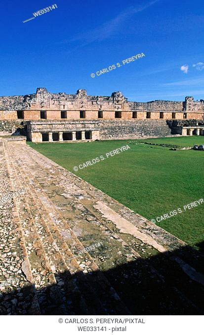 Puuc-style Mayan ruins, Uxmal. Yucatan, Mexico