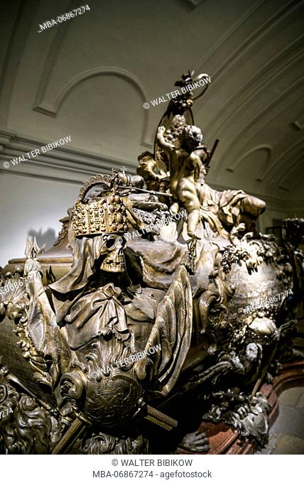 Austria, Vienna, Kaisergruft, Imperial Burial Vault, resting place of the Hapsburg Royal Family, crypt of King Karl Vi