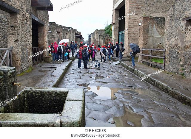 tourists in Pompei, Italy, Pompei