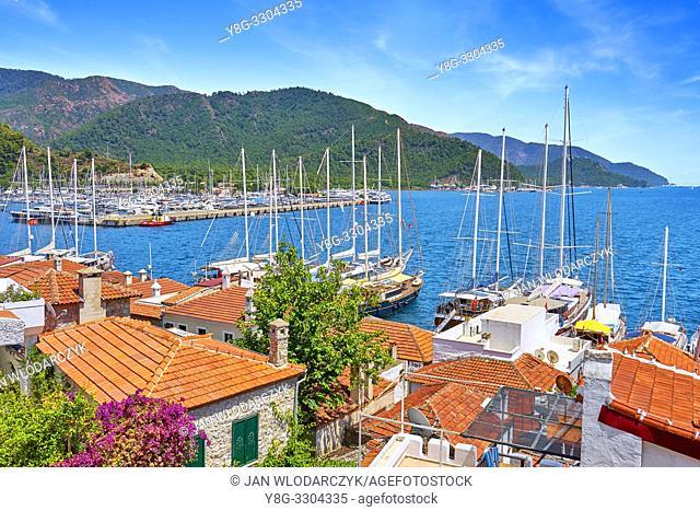 Marmaris old town and marina, Turkey