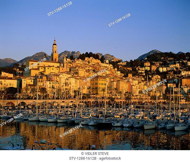Boats, City, France, Europe, Harbor, Holiday, Landmark, Menton, Port, Sailboats, Tourism, Travel, Vacation