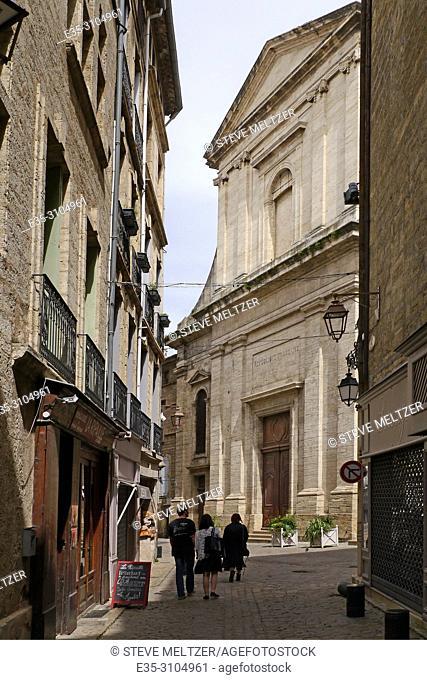 The medieval church the Collegiate Saint-Jean in Pezenas, France