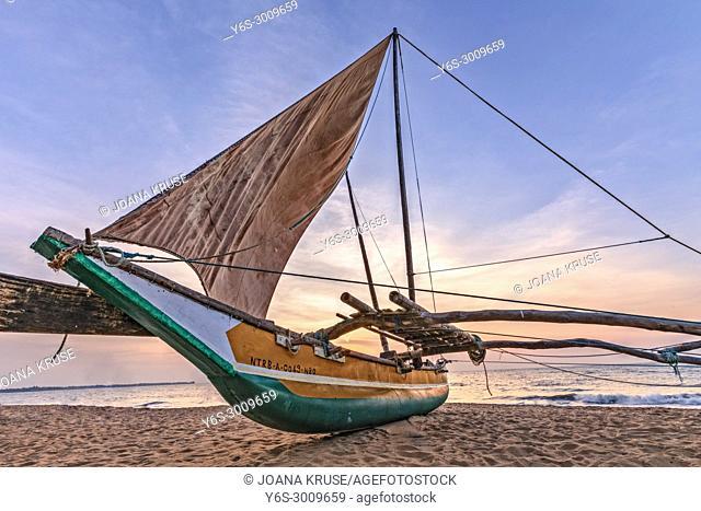 Negombo Beach, Oruwa, Colombo, Western Province, Sri Lanka, Asia