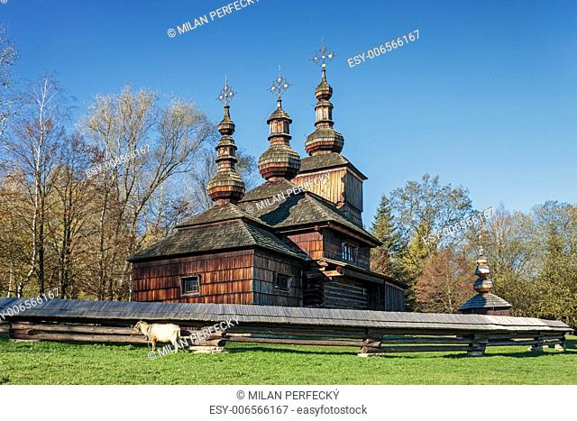 Wooden church of St. Paraskeva - skansen - museum - Svidnik