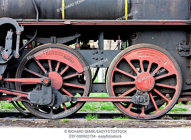detail of steam locomotive 126 014, Resavica, Serbia