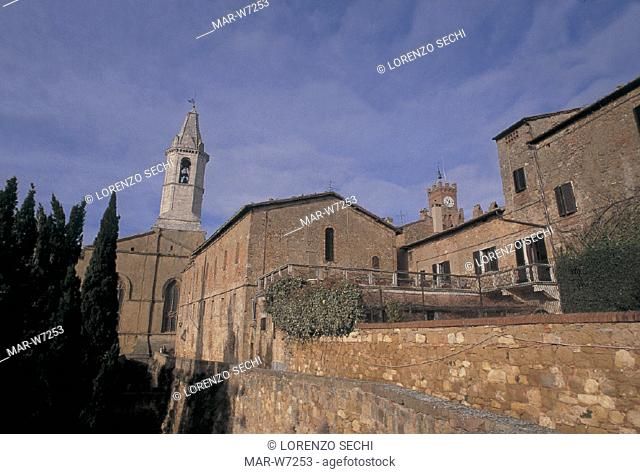 italy, tuscany, pienza