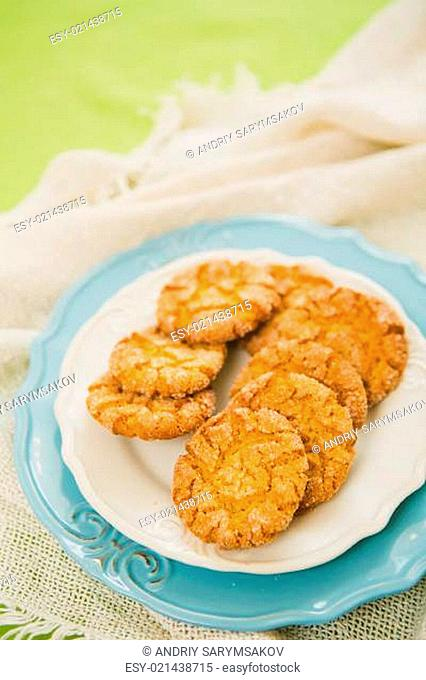 Oatmeal Cookies with Warm Fall Colors