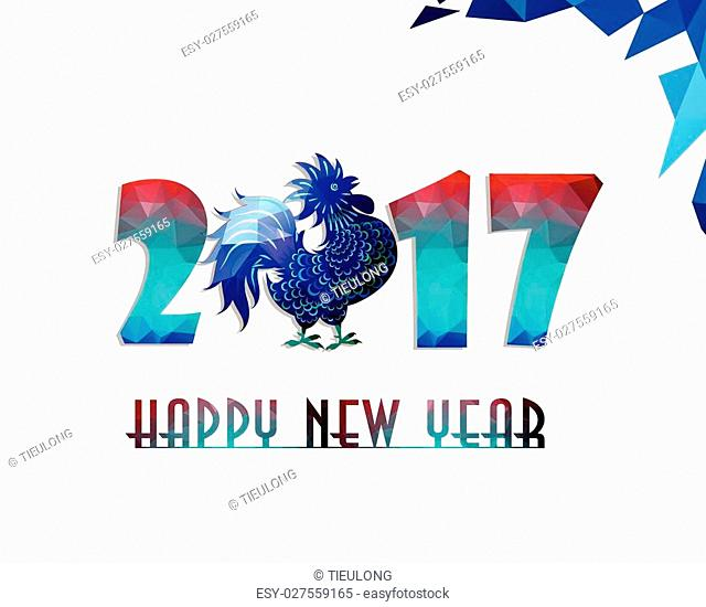 Happy New Year 2017 year of rooster