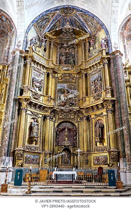Altarpiece of the church of Santiago. Cigales. Route of the Wine of Cigales. Valladolid. Castilla y León. Spain