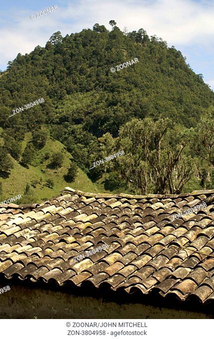 Tiled roof, Lenca village of La Campa, Honduras
