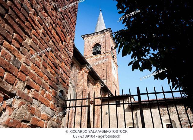 Italy, Lombardy, Castiglione Olona, La Collegiata Church, Belfry