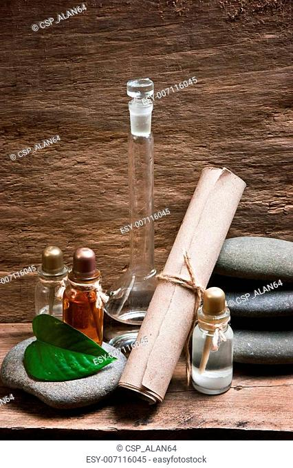 Vials with essential oils