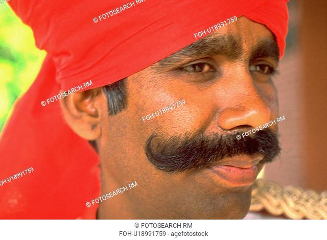 male, turban, traditional, wearing, portrait