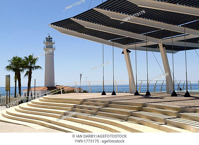 The new viewing balcony on the seafront at Playa Ferrara Costa Torrox Spain