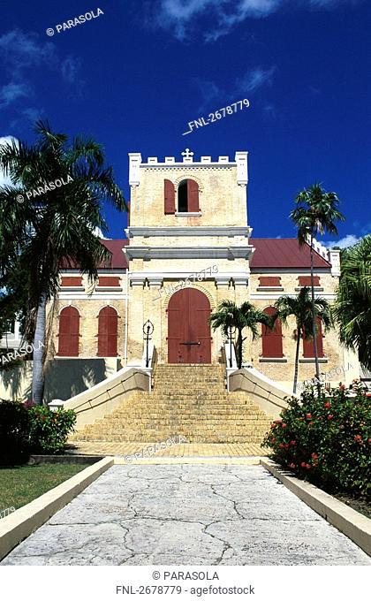 Facade of church, Frederik Lutheran Church, Charlotte Amalie, St Thomas, Leeward Islands, US Virgin Islands