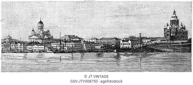 cityscape, buildings, Helsinki, Finland, historical