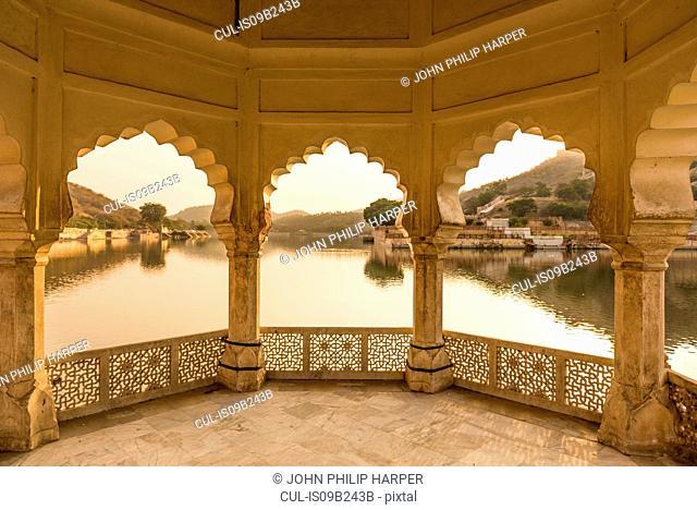 Lake by Amer Fort, Jaipur, Rajasthan, India