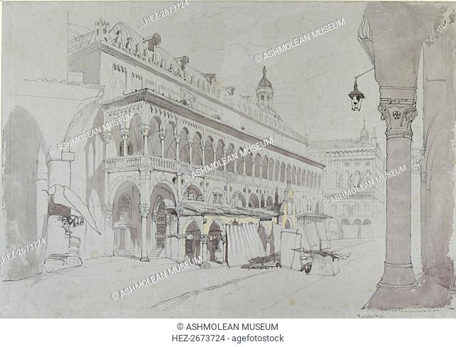 The Palazzo della Ragione and Piazza delle Erbe, Padua, May 1841. Artist: John Ruskin