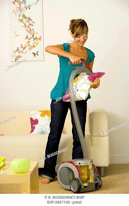 WOMAN DOING HOUSEWORK Model